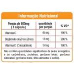 Vitamina D, C e Zinco 60 cápsulas x 600mg