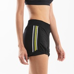 Short Duplo Feminino Run Collors - Preto