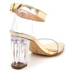 Sandalia Ema Salto Alto Transparente