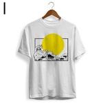 Camiseta Vaporwave Ondas do Mar Noturno