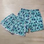Short Praia Feminino Tartarugas do Mar Azul