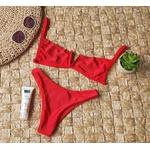 Conjunto Ibiza Canelado Vermelho