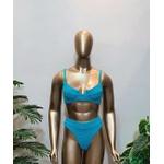 Conjunto Bahamas Com Hot Pants Azul Turquesa ( Mônaco )