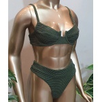Conjunto Bahamas Com Hot Pants Verde Militar ( Mônaco )