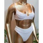 Conjunto Bahamas Com Hot Pants Branco ( Mônaco )