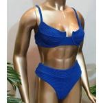 Conjunto Bahamas Com Hot Pants Azul Caneta ( Mônaco )