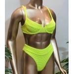 Conjunto Bahamas Com Hot Pants Amarelo Fluorescente ( Mônaco)