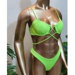 Conjunto Caribe Texturizado Verde Lima