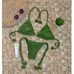 Conjunto Lacinho Verde Oliva Canelado