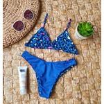 Conjunto Marina Oncinha azul ( Calcinha Dupla Face )
