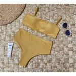 Conjunto Hot Pants Dupla Face 4 em 1 Dourado