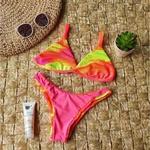 Conjunto Marina Canelado Tie Dye Neon