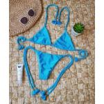 Conjunto Lacinho Azul Piscina Canelado