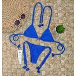 Conjunto Lacinho Azul Caneta Canelado