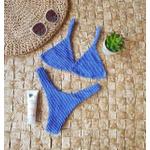 Conjunto Marina Mônaco Azul Caribe ( Calcinha Dupla Face )