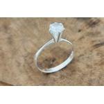 Anel Prata Pedra