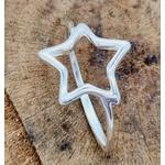 Anel Prata Estrela