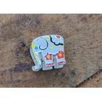Berloque Prata Elefante