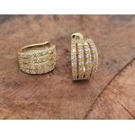 Piercing fake folheado a ouro com zirconia