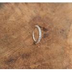 Piercing Argola Aço com ródio Cravejado