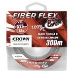LINHA MULTIFILAMENTO CROWN FIBER FLEX 8x C/ 300M