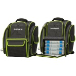 MOCHILA DE PESCA SHIMANO GREEN FISHING BACK PACK 25L C/ 4 ESTOJOS - LUG1511