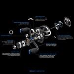 Carretilha Daisen Yoshi 120000 - 12 rolamentos Peso 170g Freio 6kg