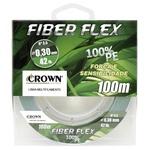 LINHA MULTIFILAMENTO CROWN FIBER FLEX C/ 100M