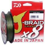 LINHA MULTIFILAMENTO DAIWA J-BRAID GRAND X8 8 FIOS - 270M DARK GREEN