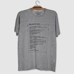 Camiseta For Fisher Manifesto