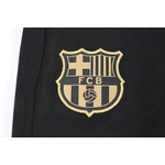 Kit agasalho moletom Barcelona preto e dourado ziper completo