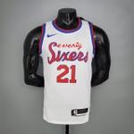 Regata NBA Silk- Philadelphia seventy sixers- (jogador) Embiid 21