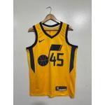 Regata Nba Utah Jazz Silk amarela (jogador) Mitchell 45
