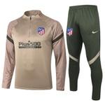 Kit Agasalho Moletom Atlético de Madrid Meio Ziper