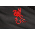 Kit Agasalho Moletom Liverpool cinza escuro meio ziper