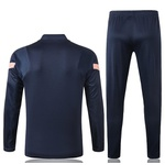 Kit Agasalho Moletom Tottenham azul escuro meio ziper