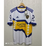 Camisa Boca Juniors Away 20/21 s/n° Torcedor Adidas Masculina - Branco e Azul