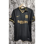 Camisa Barcelona Away 20/21 s/n° Torcedor Masculina - Preto e Dourado