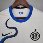 Camisa Inter de milão branca novo patrocínio 21/22 torcedor