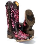 Bota Texana feminina Franca Boots Caveira Mexicana Pink