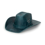 Chapéu Americano Estilo Country Couro Fóssil Azul AmL-Az-M
