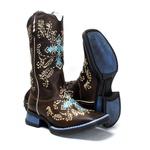 Bota Texana feminina Franca Boots cruz azul fb035