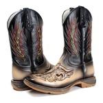 Bota Texana masculina Franca Boots bordada a laser Touro fb160