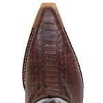 Bota De Bico Fino Masculina Detalhes Em Laser No Cano imitação anaconda
