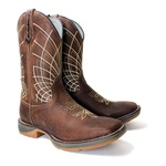 bota texana masculina bordada sola jump fb110