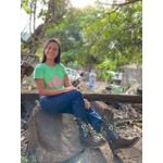 Bota Texana Feminina Cor Café De Bico Quadrado AZUL