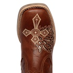 botina texana franca boots feminina bico quadrado bordada a laser fb2271