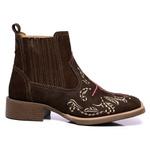 botina texana franca boots feminina bico quadrado - fe fb2269