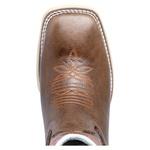 bota texana bico quadrado bordada Sola Marfim