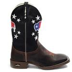 bota texana bico quadrado usa preta